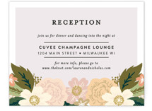 Classic Floral Reception Cards