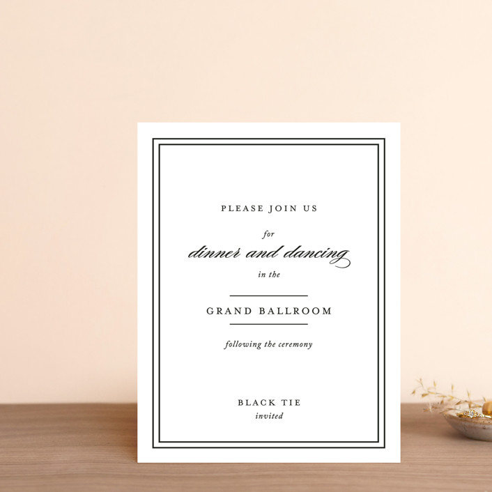 """Eloquence"" - Reception Cards in Vanilla by Kimberly FitzSimons."