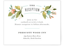 Floral Ampersand Reception Cards