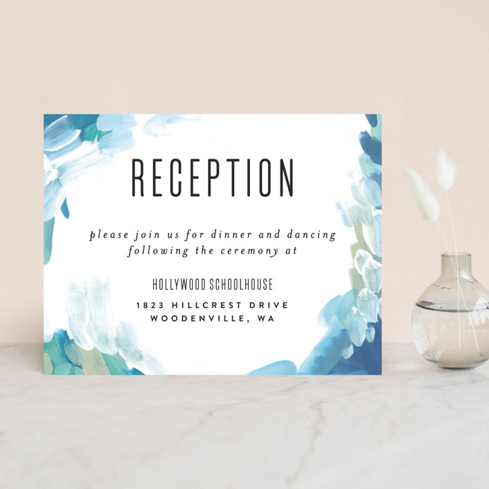 """Gallery Abstract Art"" - Bohemian Reception Cards in Ocean by Alethea and Ruth."