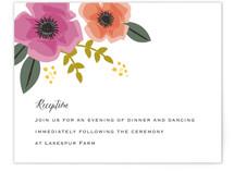 Garden Blooms Reception Cards
