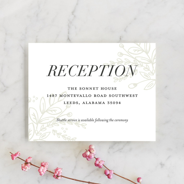 """""""Graceful"""" - Rustic Reception Cards in Taupe by Jessica Williams."""