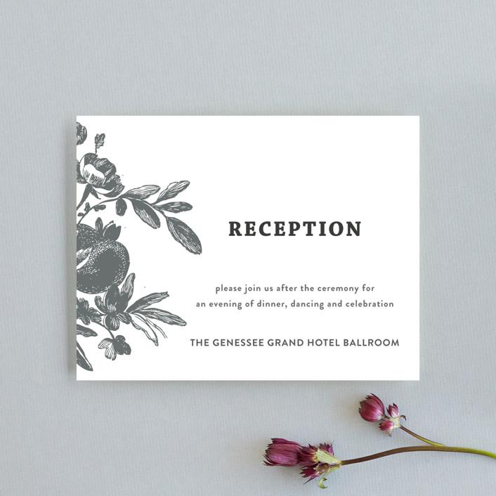 """Love in Bloom"" - Rustic Reception Cards in Kraft by R studio."