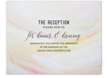 Peach Strokes Reception Cards