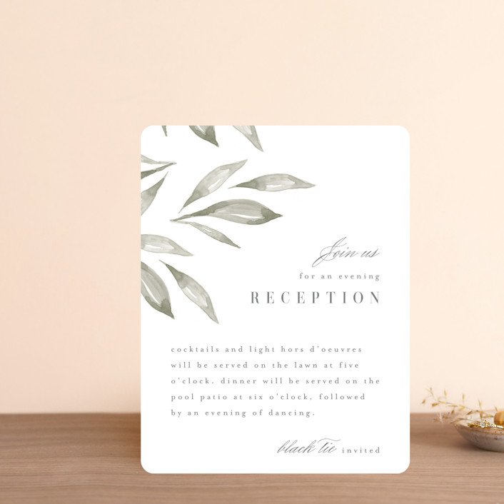 """""""Whispered Leaves"""" - Reception Cards in Leaf by Kristie Kern."""