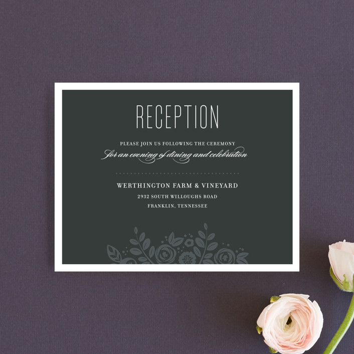"""""""White Shadows"""" - Reception Cards in Champagne by Jessica Williams."""