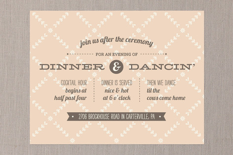Country Classic Reception Cards
