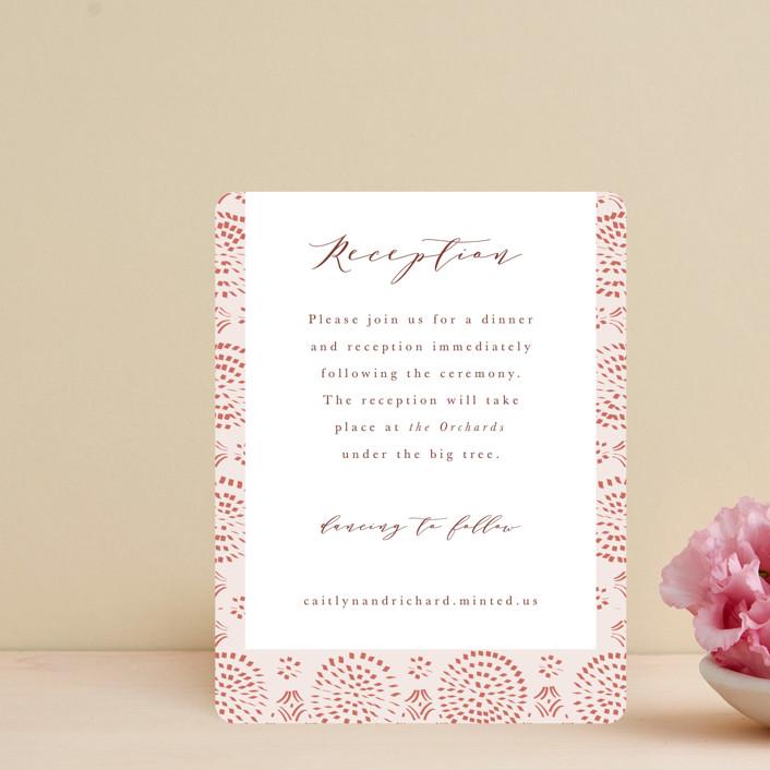 """Terracotta"" - Bohemian Reception Cards in Rust by Kanika Mathur."