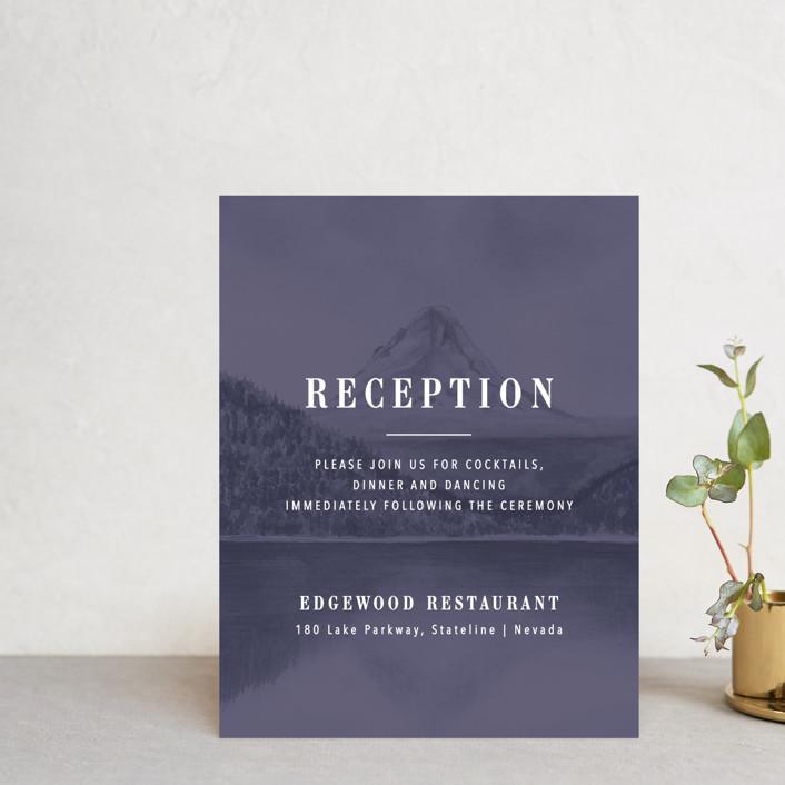 """High"" - Rustic Reception Cards in Agate by Yuliya Evseeva."