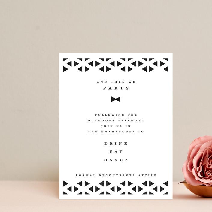 """""""Beau tied"""" - Modern Reception Cards in Tuxedo by Gwen Bedat."""