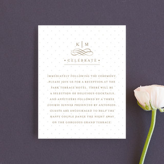 A Glamorous Affair Reception Cards