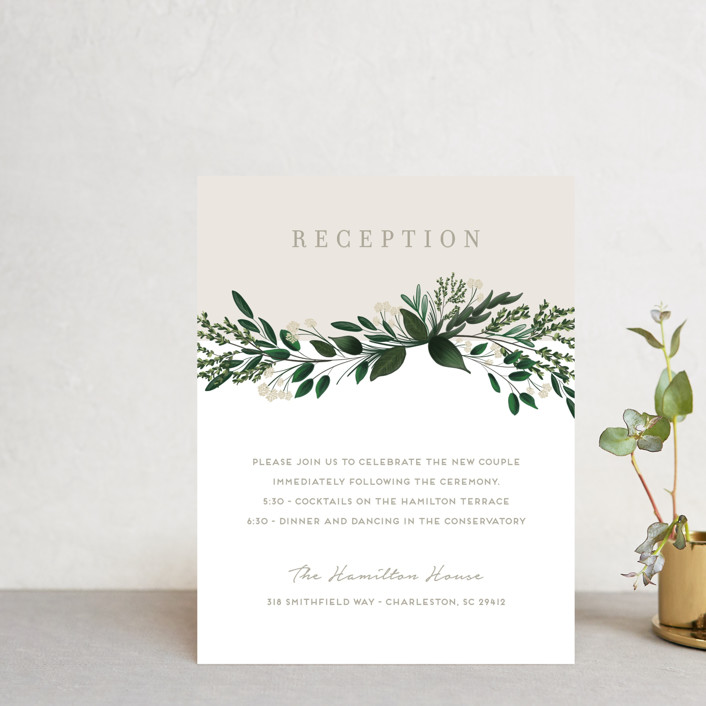 """""""Watermark"""" - Reception Cards in Cypress by Kaydi Bishop."""
