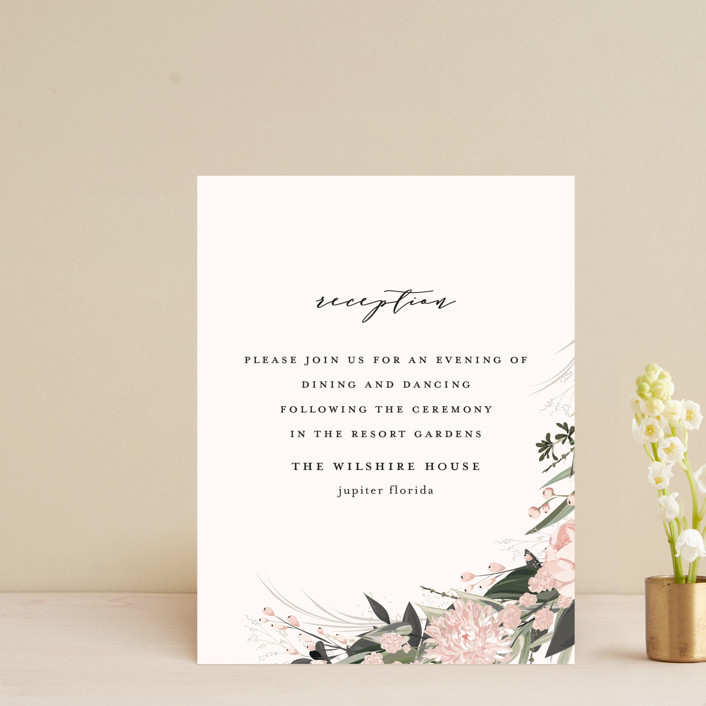"""Ivory Ring"" - Reception Cards in Blush by Susan Moyal."