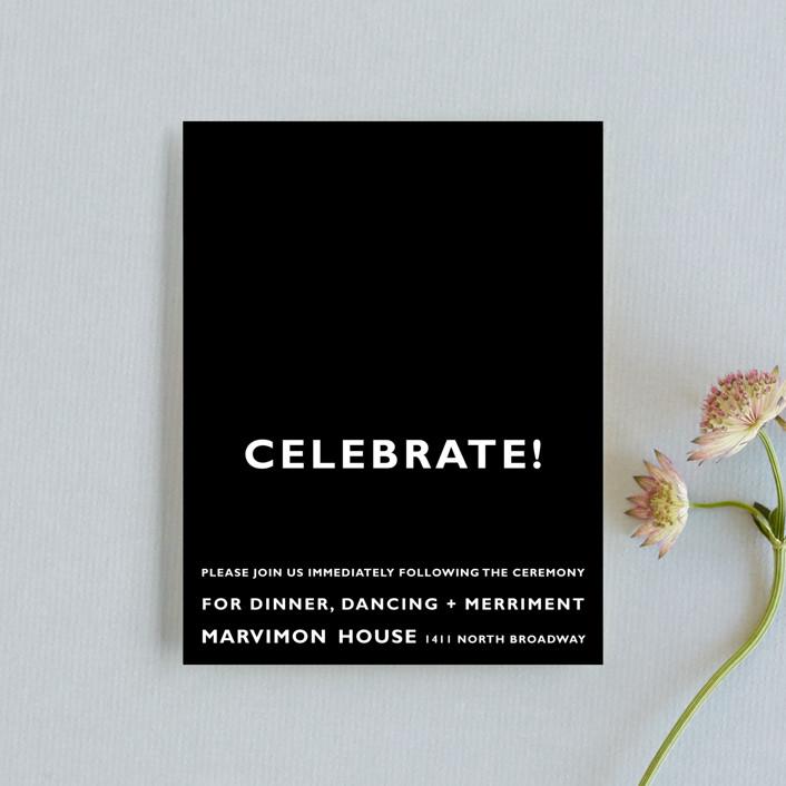 """""""Desenfadado"""" - Reception Cards in Black by Aspacia Kusulas."""