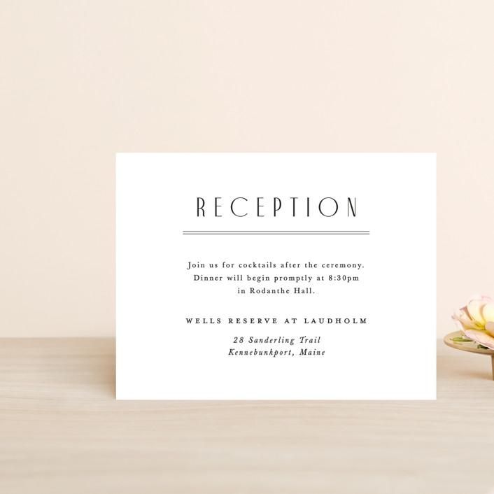 """Narrative"" - Reception Cards in Frost by Jennifer Wick."