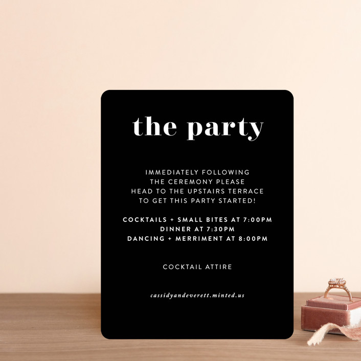 """Key Ingredients"" - Reception Cards in Cotton by Christie Garcia."