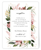This is a pink reception card by Susan Moyal called Blossom with standard printing on signature in standard.