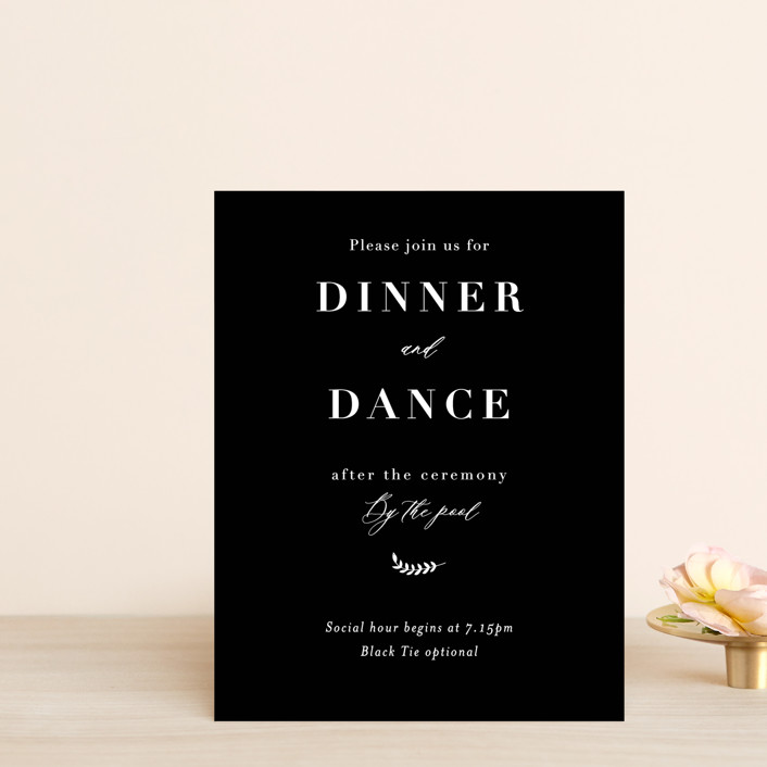 """Olivier"" - Reception Cards in Olive by Bonjour Paper."