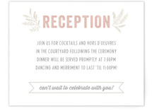 Rustic Charm Reception Cards