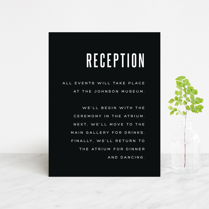 """""""Offset"""" - Reception Cards in Ebony by Up Up Creative."""
