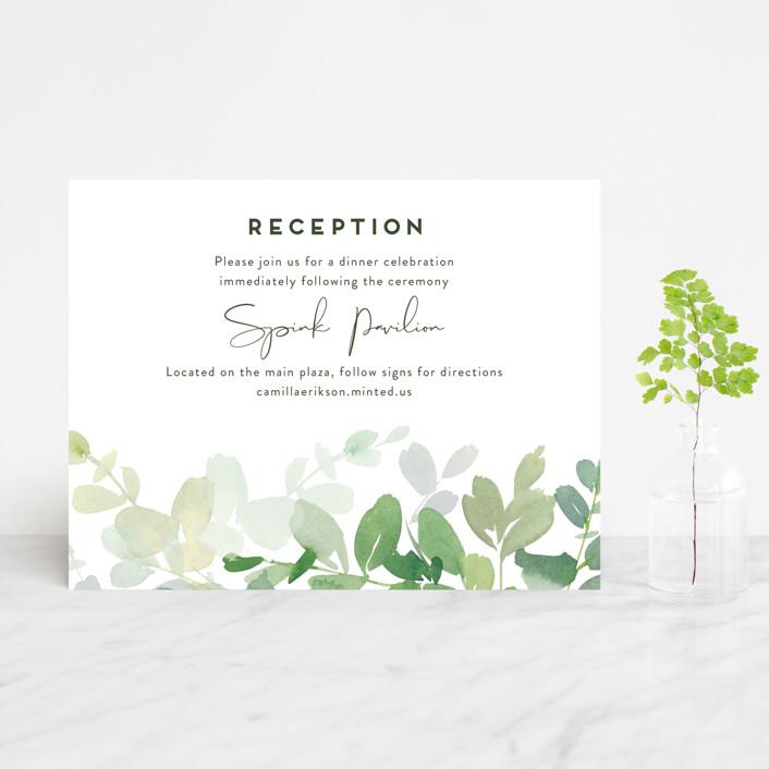 """Soft Eucalyptus"" - Reception Cards in Garden by Yao Cheng Design."