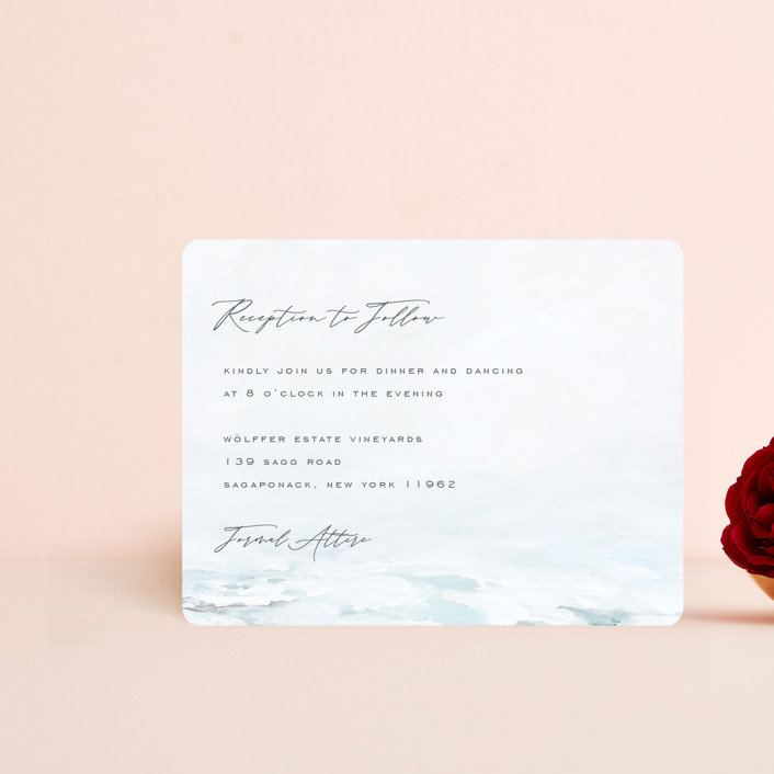 """""""At Sea"""" - Reception Cards in Sky by Nicoletta Savod."""