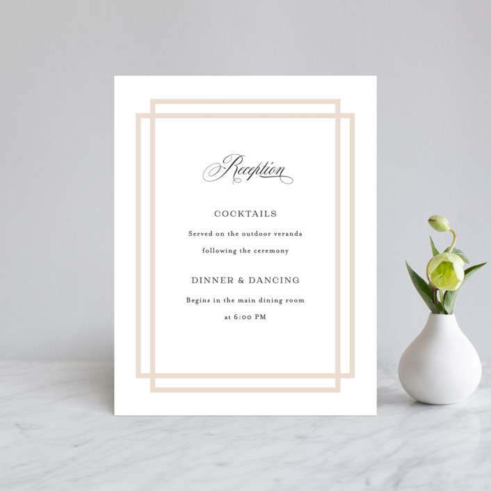 """""""Timeless Love"""" - Reception Cards in Blush by Carolyn MacLaren."""