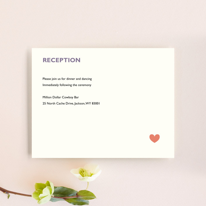 """Destination"" - Reception Cards in Lilac Haze by leslie hamer."