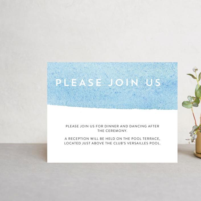 """Painted Sea"" - Reception Cards in Sea by Laura Condouris."