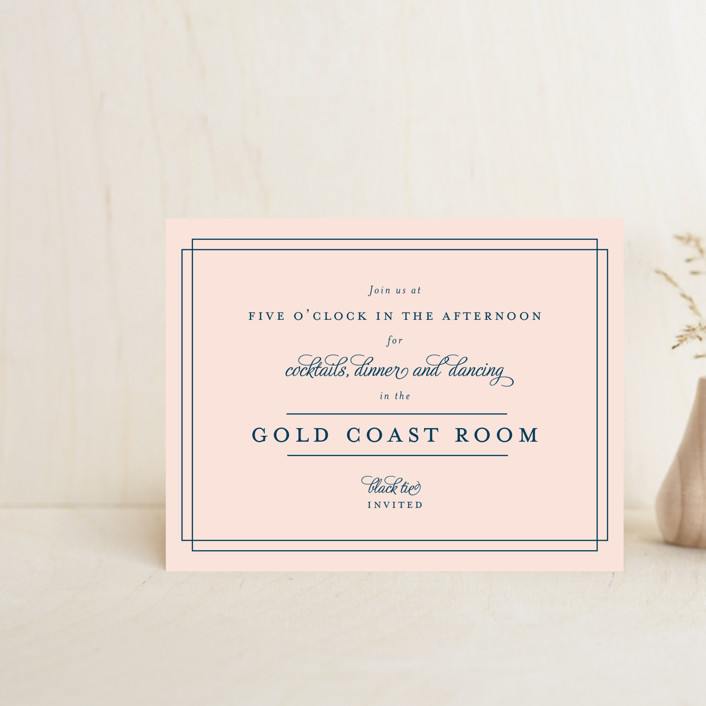 """""""Chic Gala"""" - Reception Cards in Cotton Candy by Kimberly FitzSimons."""