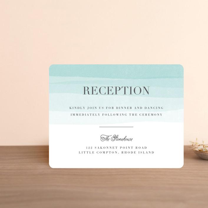 """Old Post Road"" - Reception Cards in Sea Salt by Jennifer Wick."