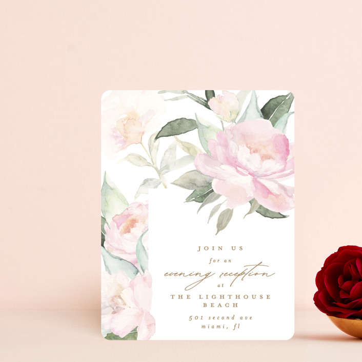 """""""beautiful peonies"""" - Reception Cards in Spring by Phrosne Ras."""
