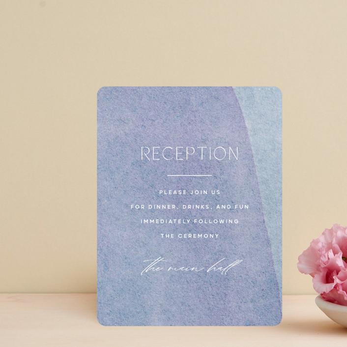 """""""Alchemy"""" - Modern Reception Cards in Deep Sea by Olivia Raufman."""