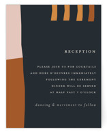 This is a orange reception card by Morgan Kendall called Color Block with standard printing on signature in standard.