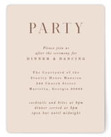 This is a pink reception card by Hooray Creative called Everly with standard printing on signature in standard.