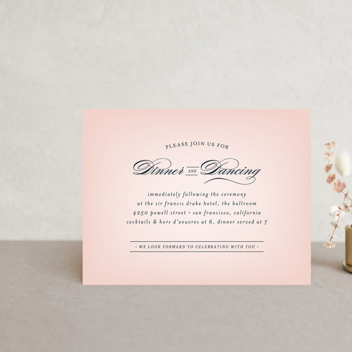 """Big City - San Francisco"" - Reception Cards in Blush by Hooray Creative."