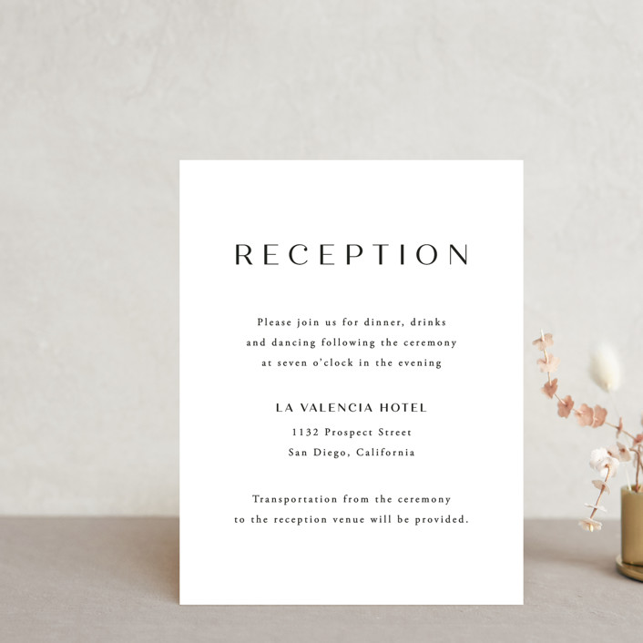 """Arguello"" - Reception Cards in Diamond by Annie Shapiro."