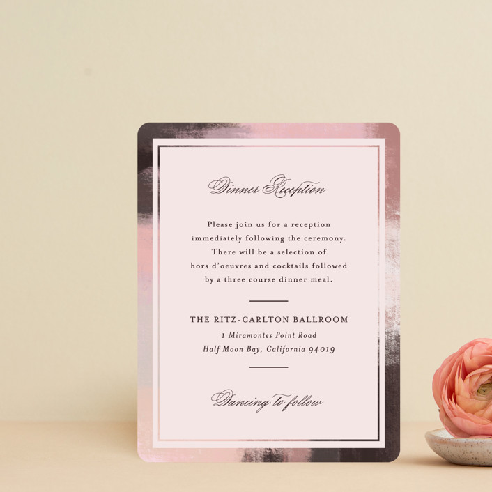 """Soft Overlay"" - Reception Cards in Cloud by Mansi Verma."