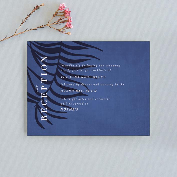 """Acapulco"" - Reception Cards in Indigo by Angela Marzuki."