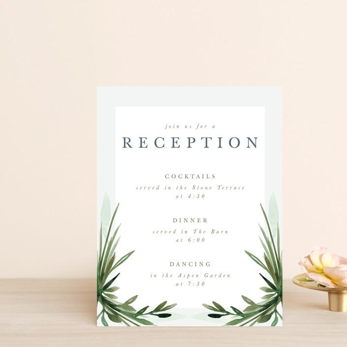 """Botanical Frame"" - Reception Cards in Fern by Kate Ahn."