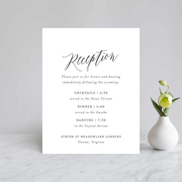 """""""Nothing Compares To You"""" - Reception Cards in Cream by Design Lotus."""