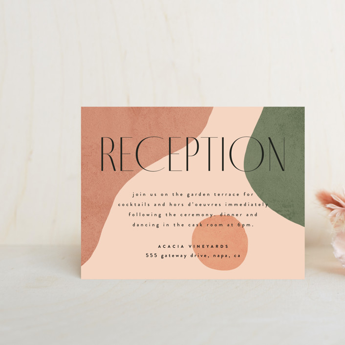 """""""Abstract"""" - Modern Reception Cards in Desert by Kelly Schmidt."""