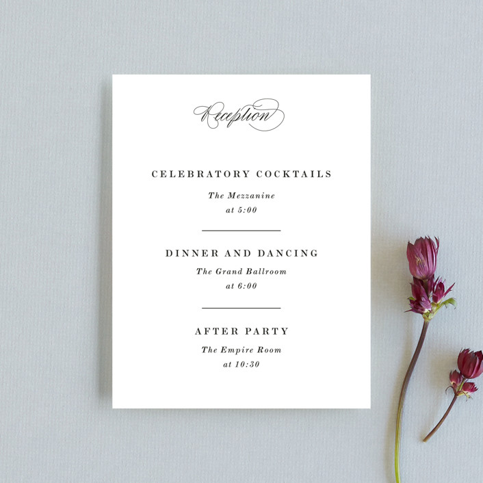 """Understated Elegance"" - Reception Cards in Cotton by Kimberly FitzSimons."