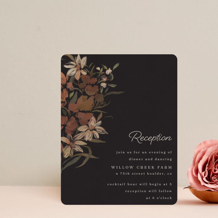 """Fall Garden Bouquet"" - Reception Cards in Rust by Grace Kreinbrink."