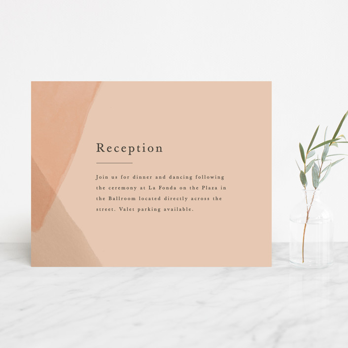 """Desert Wash"" - Reception Cards in Peach by Amy Kross."