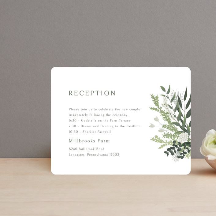 """""""Collection"""" - Reception Cards in Blanco by Kaydi Bishop."""