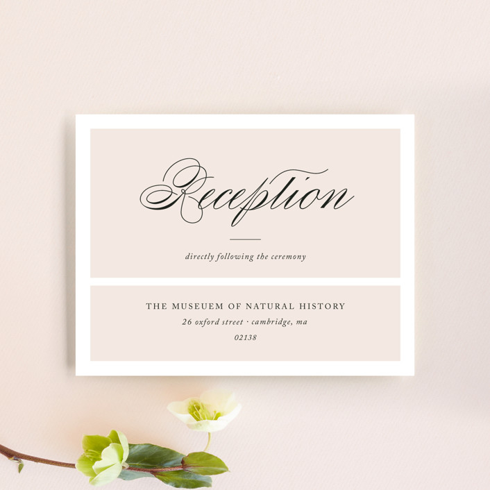 """""""Darling and Dashing"""" - Preppy Reception Cards in Blush by Alston Wise."""