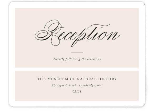 This is a landscape bold and typographic, classic and formal, preppy, white, pink Reception Cards by Alston Wise called Darling and Dashing with Standard printing on Signature in Card Flat Card format. Echoing the personality of the bride and groom ...