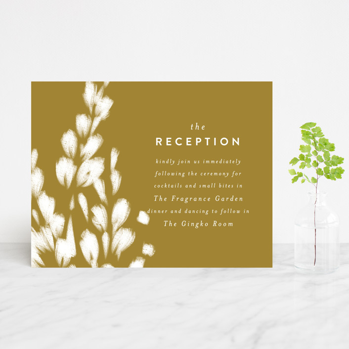 """spring dream"" - Reception Cards in Onyx by Angela Marzuki."