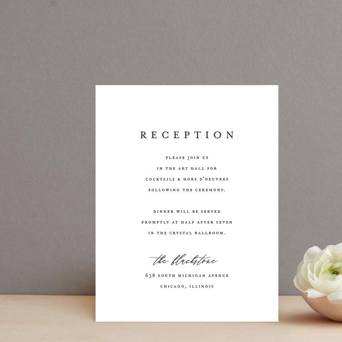 """Delicate"" - Reception Cards in Obsidian by Jennifer Postorino."